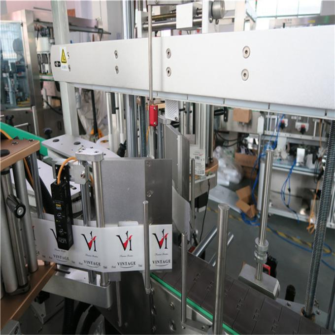 Dubbelkant-plastiekbottel-etiketmasjien / outomatiese botteletiket