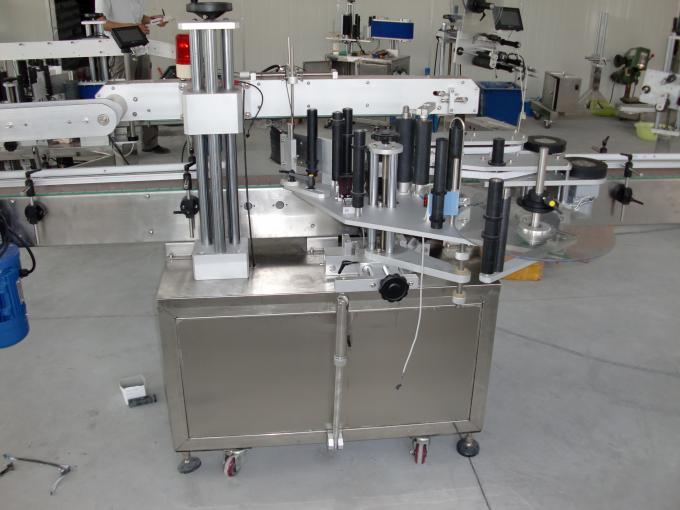 Plastiek- en glasbottels PLC beheer outomatiese dubbelkant-plakker-etiketmasjien-servomotor