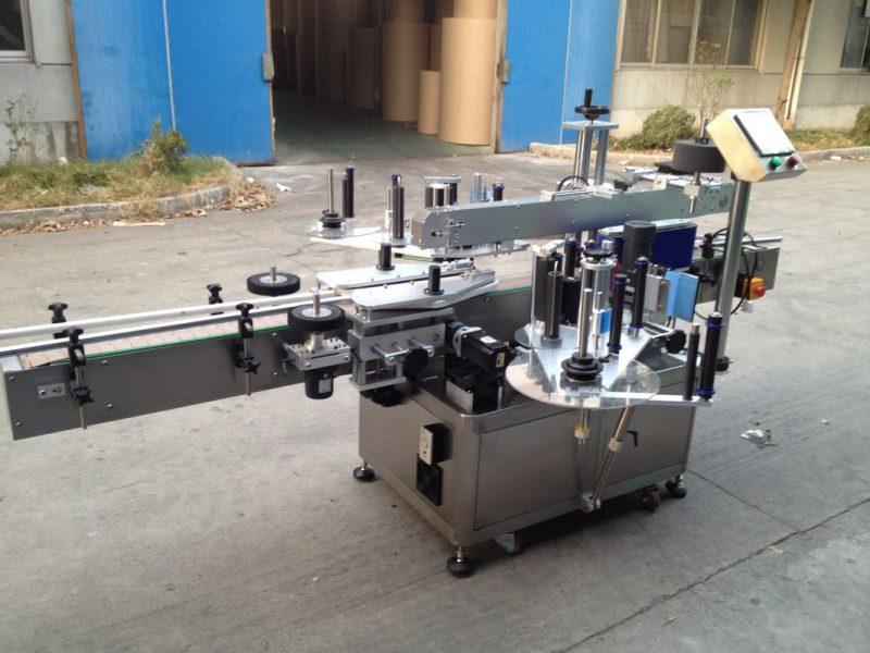 Sjina druk bottel outomatiese plakker toediener, 550 kg outomatiese etiketteermasjien verskaffer