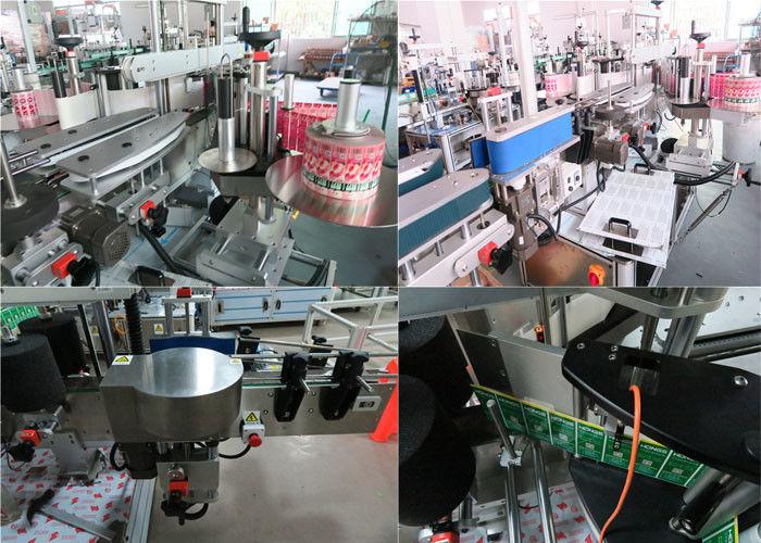 Daaglikse bottels etiketmasjien voor en agter, etiketmasjien vir potjies