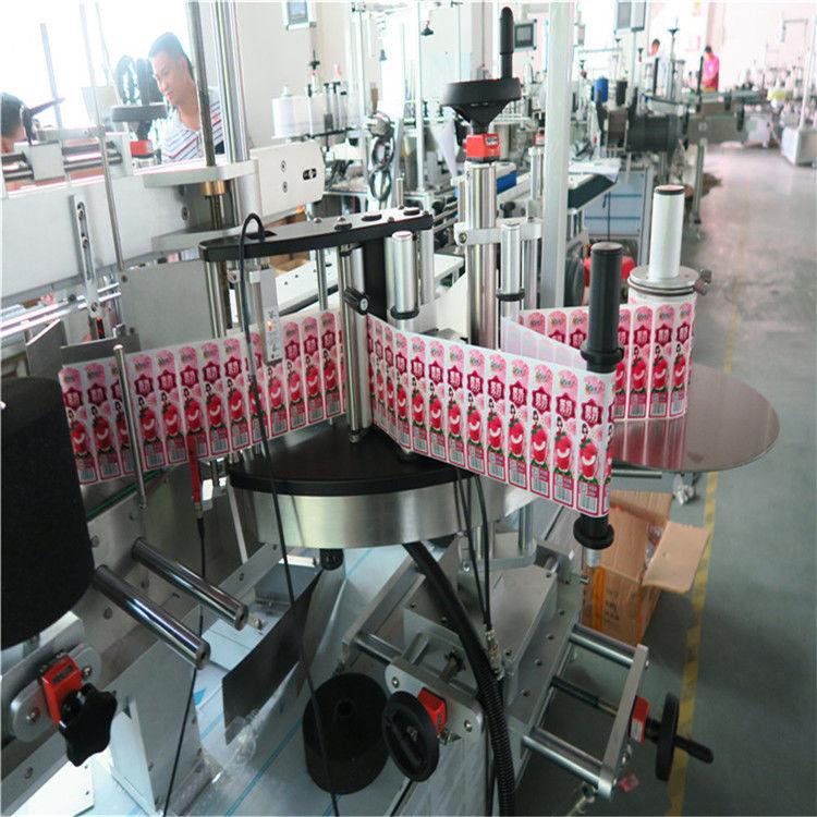 Plakkeretiketaanwender vir agterkant en vou etiketfles toe