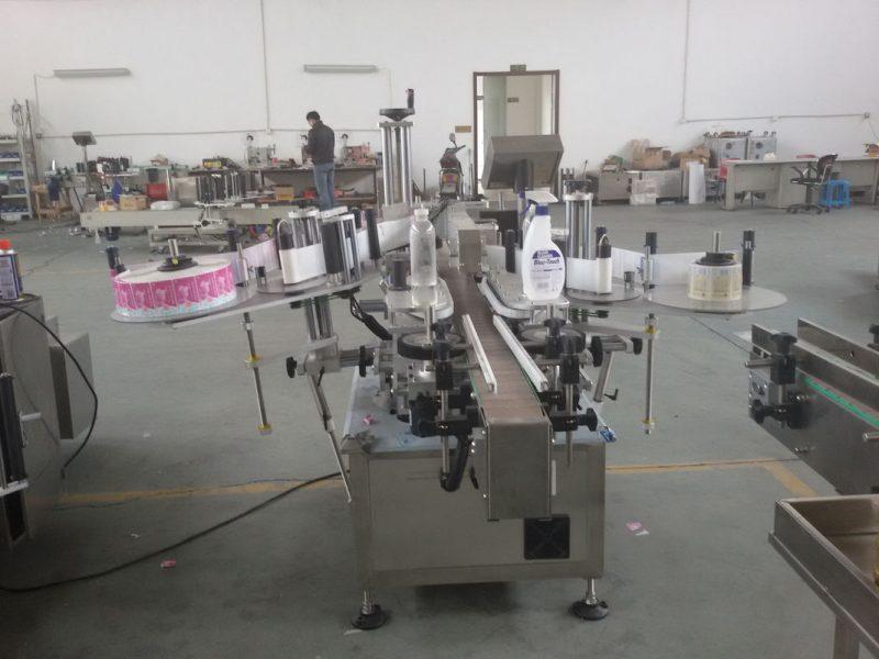 China Plastiek- en glasbottels PLC beheer outomatiese dubbelkant-plakker-etiketmasjien-servomotorverskaffer